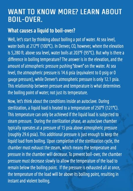 Steam Sterilization Cycles: Boil-Over